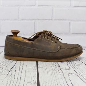 LL Bean Brown Leather Deck Boat Loafers Shoes 11.5